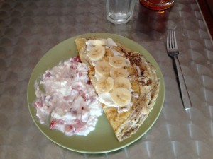 Strawberry/Banana Omelet